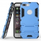 Tough Protective Kickstand Hybrid Armor Slim Skin Cover Case for iPhone 7 Plus 5.5inch - Blue