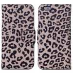 Leopard Print Leather Folio Stand Wallet Case for iPhone 6/6S 4.7