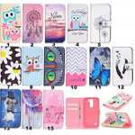 Luxury PU Leather Wallet Case Flip Cover with Card Slots & Stand For LG K7