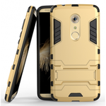 Rugged Armor Shockproof Hybrid Kickstand Protective Cover Case for ZTE Axon 7 - Gold
