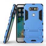 Slim Armor Shockproof Cover Hybrid Kickstand Protective Case for LG V20 - Blue