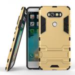 Slim Armor Shockproof Cover Hybrid Kickstand Protective Case for LG V20 - Gold