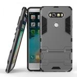 Slim Armor Shockproof Cover Hybrid Kickstand Protective Case for LG V20 - Gray