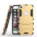 Slim Armor Shockproof Kickstand Protective Case for iPhone 7 4.7inch - Gold