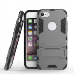 Slim Armor Shockproof Kickstand Protective Case for iPhone 7 4.7inch - Gray
