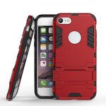 Slim Armor Shockproof Kickstand Protective Case for iPhone SE 2020 / 7 4.7inch - Red