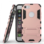 Slim Armor Shockproof Kickstand Protective Case for iPhone 7 4.7inch - Rose gold