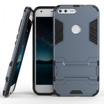 Hybrid Armor Defender Kickstand Protective Cover Case For Google Pixel XL 5.5inch - Navy blue