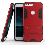 Slim Armor Kickstand Tough Dual Layer Protective Case For Google Pixel 5.0inch - Red