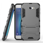 Tough Protective Hybrid Armor Slim Kickstand Cover Case for Samsung Galaxy On5 (2016) - Gray
