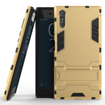 Slim Armor Shockproof Hybrid Kickstand Protective Cover Cases For Sony Xperia XZ - Gold