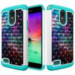 Hard & Soft Silicone Hybrid Diamond Bling Phone Case Cover For LG Stylo 3 / Stylo 3 Plus - Nebula