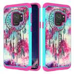 Patterned Hard TPU Hybrid Shockproof Phone Case Cover For Samsung Galaxy S9 - Dream Catcher