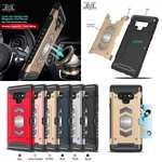 For Samsung Galaxy Note 9 TPU Shockproof Card Slot Magnetic Car Mount Armor Case Cover