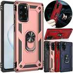 For Samsung Galaxy A71 5G UW A51 Hard Case Magnetic Ring Holder Armor Cover