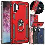 For Samsung Galaxy Note 20 Ultra A71 A51 5G UW Case Ring Holder Shockproof Armor Stand Cover