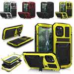 For iPhone 12 mini 12 Pro Max Shockproof Metal Kickstand Armor Case