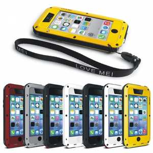 Rugged Shockproof Waterproof Protective Metal Case for iPhone 5C/5/5S/6/7/8 Plus/X XS XR XS Max