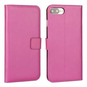Real Genuine Leather Side Flip Wallet Case Cover for iPhone 7 4.7 inch - Rose