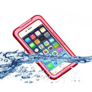 Waterproof Shockproof Dirtproof Hard Case Cover for iPhone 8 Plus 5.5 inch - Red