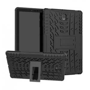 2 in 1 Rugged Shockproof Kickstand Cover Armor Back Case for Samsung Galaxy Tab S4 10.5 T830/T835 - Black