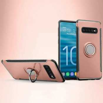 Magnetic Car Holder Ring Stand Case For Samsung Galaxy S10e - Rose Gold