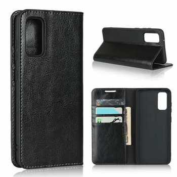For Samsung Galaxy S11e Case Genuine Leather Wallet Card Holder Stand Cover