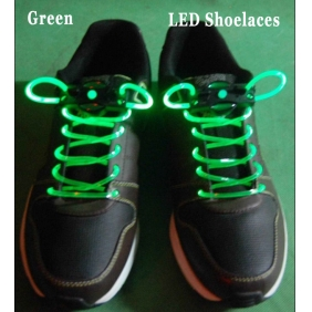 LED Light Up Shoelaces Flash Shoestrings (Green)