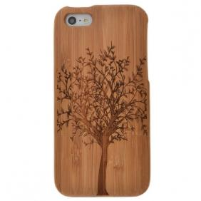 New Genuine Natural Bamboo Wood Wooden Hard Case Cover For iPhone 5 5S SE Big Tree