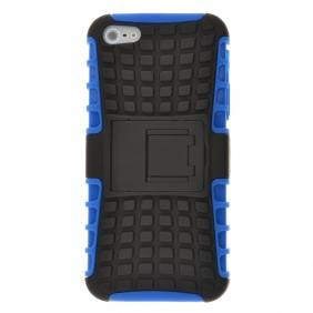 TPU+Hard Kickstand Case For iPhone SE 5 5S - Blue + Black