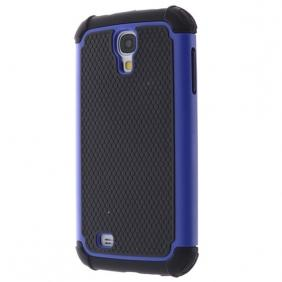 2 in 1 Silicone and Plastic Hybrid Case For Samsung Galaxy S4 SIV/i9500 - Blue