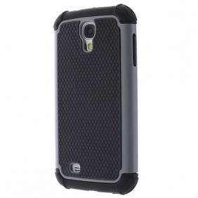 2 in 1 Silicone and Plastic Hybrid Case For Samsung Galaxy S4 SIV/i9500 - Grey