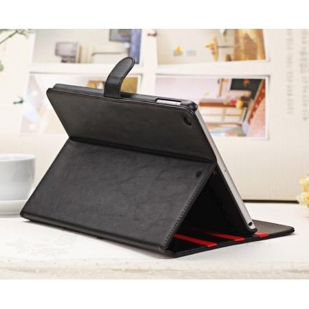 Fashion New Folio Leather Flip Protective Case w/ Stand Holder for iPad Air - Black
