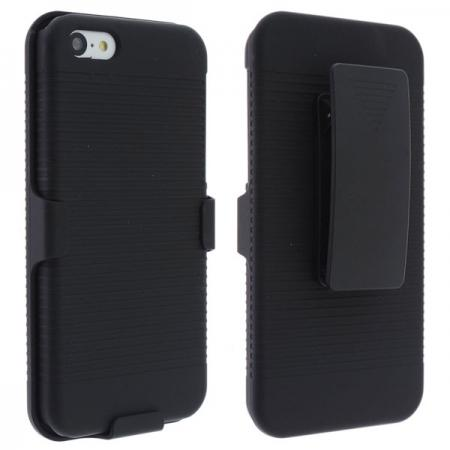 Hard Plastic Cover With belt clip holster and kickstand Combo Case for iPhone 5C