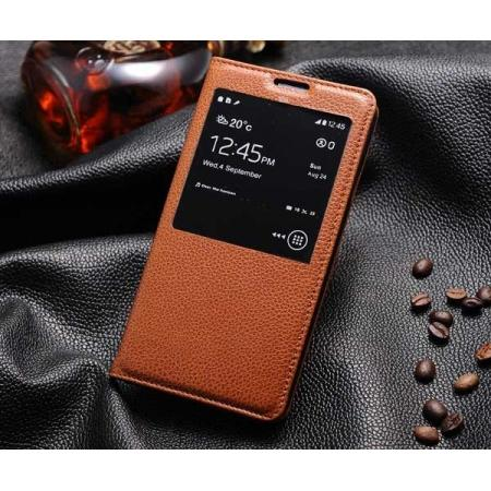 High quality Luxury Top cowhide Genuine Leather Case for Samsung Galaxy Note 3 III N9000 - Brown