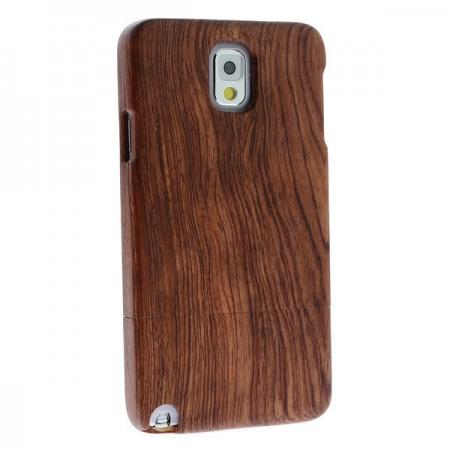 RoseWood Patterned Carved Real Gennuie Wood Wooden Cover Case Shell for Samsung Galaxy Note 3 III N9000