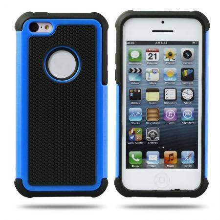 Rugged Impact Hybrid Hard Back Case Cover For iPhone 5C - Blue