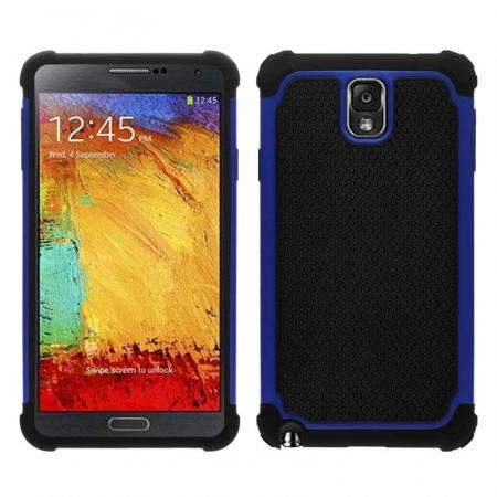 Rugged Impact Hybrid Hard Back Case Cover For Samsung Galaxy Note 3 III N9000 - Blue