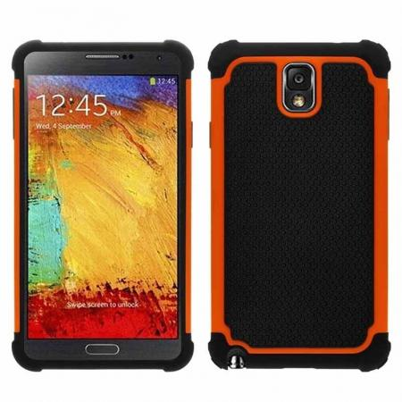 Rugged Impact Hybrid Hard Back Case Cover For Samsung Galaxy Note 3 III N9000 - Orange