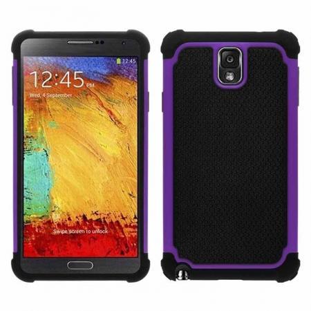 Rugged Impact Hybrid Hard Back Case Cover For Samsung Galaxy Note 3 III N9000 - Purple