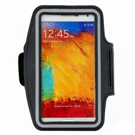 Sports Gym Running Arm Band Armband Case Cover For Samsung Galaxy Note 3 N9000 - Black