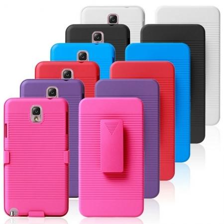 Hard Plastic Cover With belt clip holster and kickstand Combo Case for Samsung Galaxy Note 3 N9000