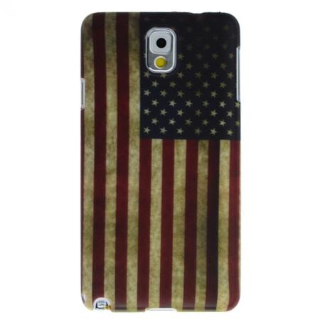 Retro Flag Of United States Pattern Hard Rubber Back Case Cover For Samsung Galaxy Note 3 N9000