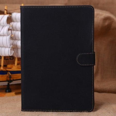 Retro Folio Magnetic Leather Case Smart Cover with Sleep Wake for iPad Mini Retina 2 - Black