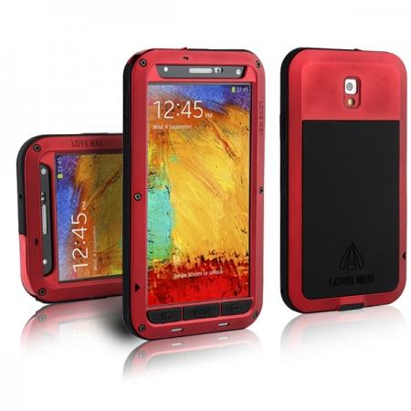 Waterproof Aluminum Gorilla Metal Cover Case for Samsung Galaxy Note 3 N9000 - Red