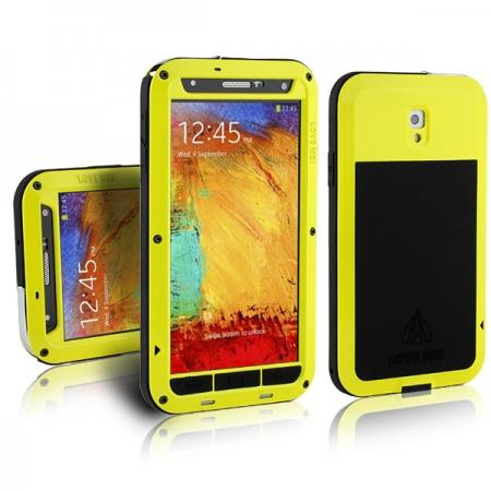 the best attitude 33d56 b5d64 Waterproof Aluminum Gorilla Metal Cover Case for Samsung Galaxy Note 3  N9000 - Yellow