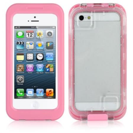 Waterproof Shockproof Snow proof Protector Case Cover for iPhone SE/5S/5 - Pink