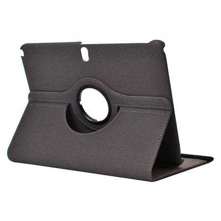 360 Degree Rotating Buwen Leather case for Samsung Galaxy Note 10.1 2014 Edition P600 - Grey