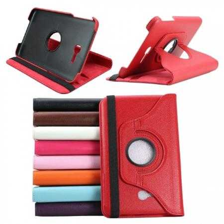 360 Rotating Leather Portfolio Case Cover For Samsung Galaxy Tab3 Lite7/T110