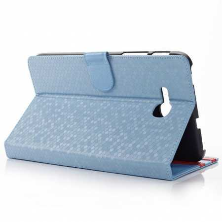 Diamond Pattern Leather Stand Case Cover For Samsung Galaxy Tab 3 Lite 7.0 T110 T111 - Blue